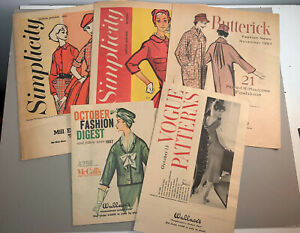 VTG 1950's VOGUE PATTERNS WALLACE SIMPLICITY BUTTERICK DIGESTS NEWS FALL PREVIEW