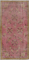 "Hand-knotted Turkish Carpet 2'11"" x 6'1"" Melis Vintage Traditional Wool Rug"
