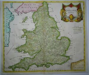 Antique map of England and Wales by Robert Morden 1695