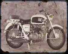 Honda Cb450 Police Special A4 Metal Sign Motorbike Vintage Aged