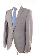 NEXT GREY CHECK PEAKED LAPEL MEN'S SUIT 38R DRY-CLEANED