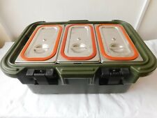 More details for british army cambro upc180 insulated food transport box with 3 containers [dsf]