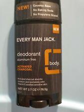 Every Man Jack ACTIVATED CHARCOAL 2.7oz Deodorant aluminum free Men STICK