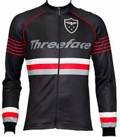 Maglia manica lunga ciclismo termica traspirante giacca leggera nero autunno