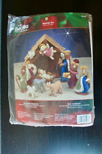 Plaid Bucilla Felt Home Decor Nativity Set Kit Item # 85263