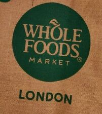 Whole Foods  LONDON  Jute Shopping Tote   Brand New