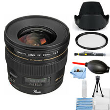 Canon EF 20mm f/2.8 USM Wide Angle Lens #2509A003 STARTER BUNDLE BRAND NEW