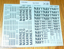 Microscale Decal #AC48-0029 Navy & Marines (Black - 2 Sheet set) Decals