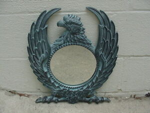 Eagle Shaped Winged Framed Wall Mirror Metal India NICE