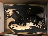 Nike KD 7 VII EXT QS Longhorn State Texas Pony Hair Black SZ 9