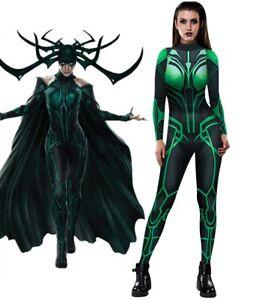 Thor: Ragnarök Hela Women Jumpsuit Cosplay Costume Superhero Tights Halloween