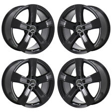 "18"" MERCEDES S SERIES CL550 E350 S350 BLACK WHEELS RIMS FACTORY OEM SET 85121"