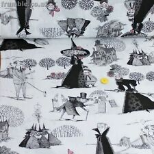 Alexander Henry Fabric The Ghastlies Light Tea PER METRE Halloween Witches Witch