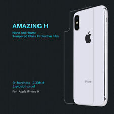 "Glass Tempered Nillkin for Zone Rear "" iphone x "" Protector Rear 9H Cover"
