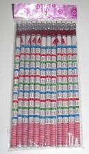 Lot Set 12 Crayons Papier Table Multiplication + Gomme 19 cm Pencils with Eraser