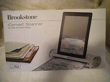 BROOKSTONE ICONVERT SCANNER MADE FOR IPAD 1 & 2  PHOTOS / DOCUMENTS