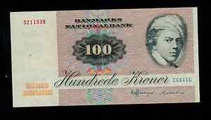 DENMARK  100 KRONER  1984   PICK # 51k  VF.