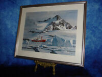 Framed & Signed KEITH SHACKLETON HMS Endurance In The Ice Limited ART PRINT 1982