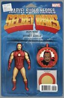 Secret Wars  #9 Iron Man Action Figure Variant Marvel Comic 1st Print 2015 NM