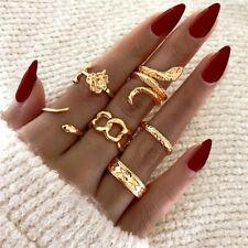 Men Lover Couple Ring Set Open Cuff Fashion Vintage Snake Flower Rings For Women