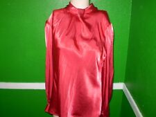 NICOLA WET LK LIQUID SATIN GLOSSY SHINY BLOUSE TOP SHIRT FOR DRESS SUIT VINTAGE