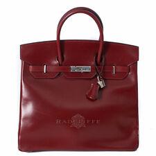 Hermes  36cm HAC Box Calf Red Birkin Handbag