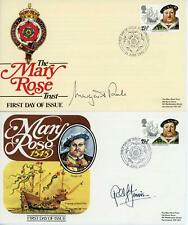GB 1982 Maritime Heritage Pair of Signed MARY ROSE FDC's