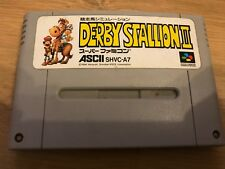 Super Famicom SNES Game * Derby Stallion 2 Horse Racing * Cart Only Jap