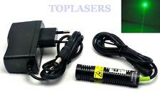 532 Presque comme neuf 10 mW point vert Ray Laser Diode Module avec adaptateur secteur long-Temps Travail