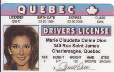 Celine Dion of TITANIC my Heart Will Go On BECAUSE You Loved Me Drivers License