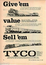 1967 ADVERT Tyco Toy Electric Train Sets The Praire Express Inner City Hustler