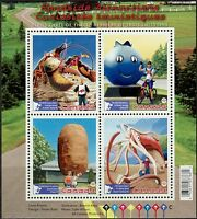 Canada Stamps - Souvenir Sheet of 4 - Roadside Attractions #2484 - MNH