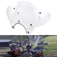 Universal Motorcycle Clear Windshield Windscreen Mounting Kit Fairing For Harley