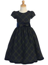 New Red Plaid Girls Dress Christmas Holidays Party Elegant Birthday Pageant 813