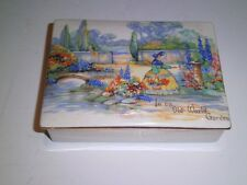 Vtg In an Old World Garden Porcelain Trinket Box L&S Ltd SANDLAND WARE  England
