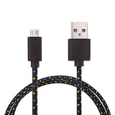 Strong Braided Micro USB Cable Data Cable for HTC A9 10 Gold Wildfire G8 S Black 3m