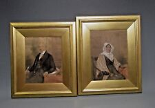 Fine Pair English Portraits of Mr. & Mrs. James McTear M. A. ca. 19th century