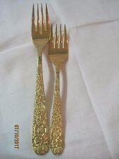 Vintage Japan Lifetime Cutlery gold electroplate Dinner & Salad Forks LCU23