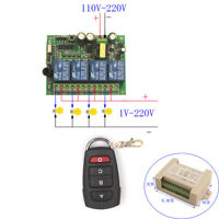 220V Remote Control Switch 4 Channels ON/OFF Relay Module Universal 110V-220V