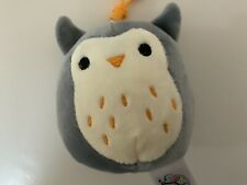 """Squishmallow 3.5"""" Hoot Gray Mini Plush Owl with Back Pack Clip"""