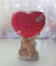 Vtg Relpo Napco Cherub on the sky with Heart Planter Valentine Vase RARE