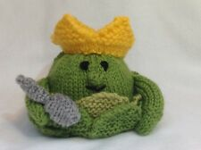 KNITTING PATTERN - King Sprout the Christmas Party friend orange cover / toy