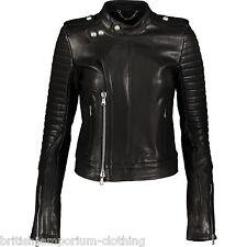 DIESEL BLACK GOLD Black Lamb Leather LANAVY Biker Jacket BNWT IT44 UK12