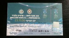 # Ticket MACCABI HAIFA - PARTIZAN BELGRADE BEOGRAD 06/07 UEFA Cup Israel Serbia