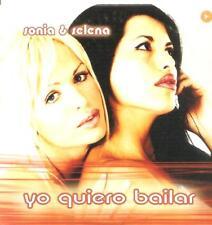 SONIA Y SELENA - YO QUIERO BAILAR CD SINGLE 1 TRACK SPAIN PROMO 2001 CARDBOARD