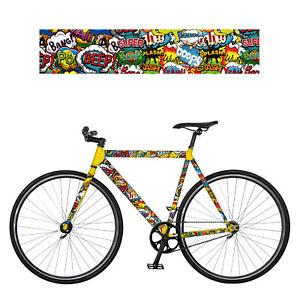 REMEMBER RadKleid Boom Comic Fahrradfolie Fahrrad Sticker Bike Aufkleber Folie