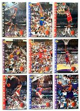 Michael Jordan 1992-93 Two Time Champion In your Face 9 Card Complete Lot Set