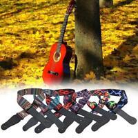 NEW Nylon Guitar Strap For Acoustic Electric Bass Adjustable Soft Webbing Belt