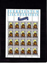 Liechtenstein Noel Multicolores 80 r   feuille 20 TP n° 806