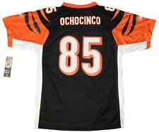 Youth sized NFL Black Cincinnati Bengals OchoCinco #85 Throwback Football Jersey